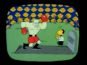 "You couldn't actually dance on someone's grave, even in ""Punchout!""."