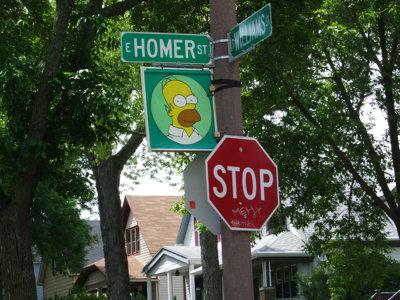 Homer Street Sign