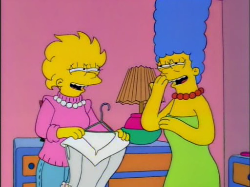 Bart and lisa cutting milhouses dick