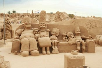 Simpsons Sand Couch