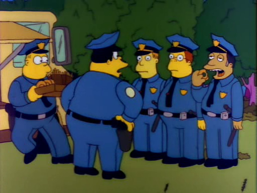 Quote of the day dead homer society - Police simpsons ...