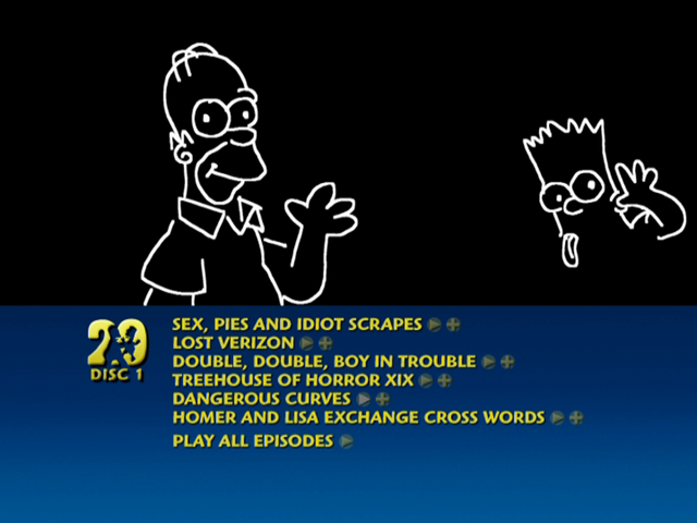 Season 20 DVD Menu