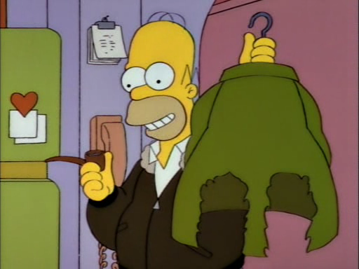 Homers Leather Jacket With Tweed Patches - The 40