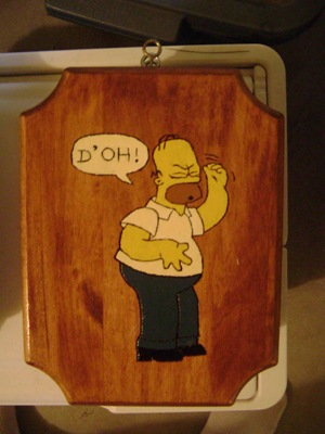 Homer Wood Burned Engraving