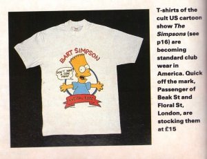 The Face Magazine June 1990 Simpsons2