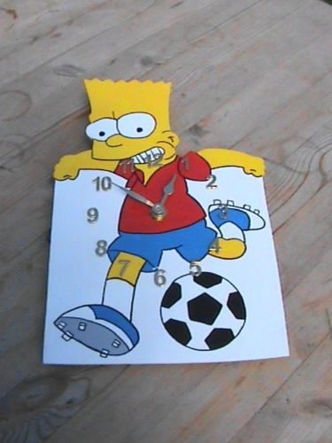 Hand Made Bart Clock