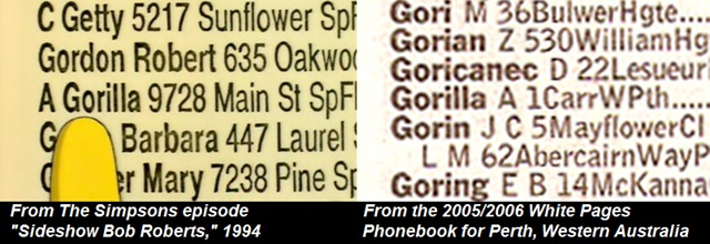Phonebook, Gorilla A