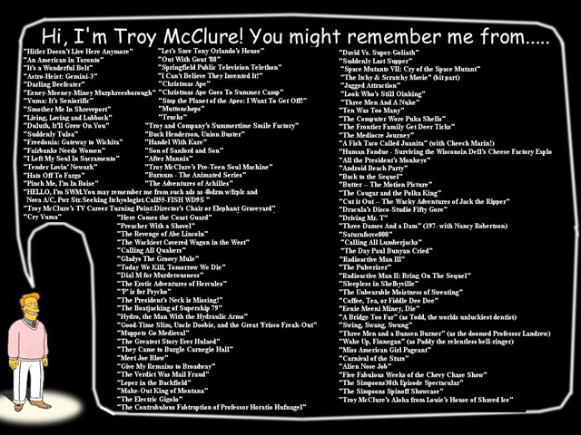 Troy McClure Titles (and then some)
