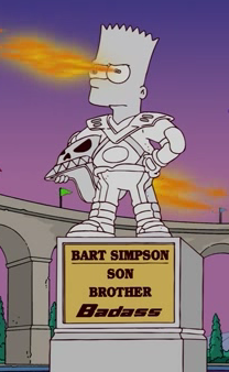 Bart's Imaginary Statue