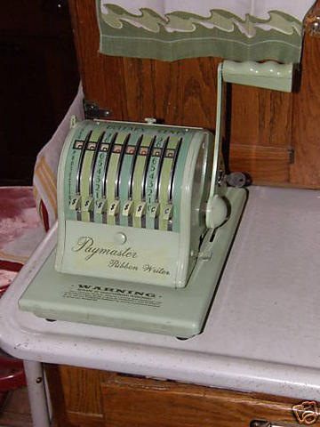Check Writing Machine
