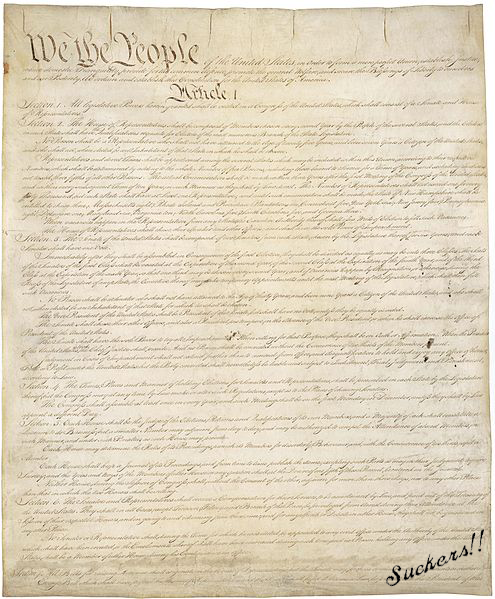 Rare First Draft of the Constitution