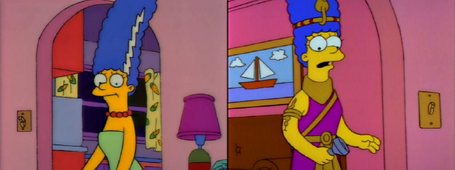 Marge in Costume