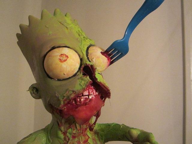 Andres Musta - Zombie Bart in Progress