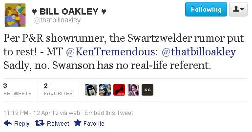 Swanson-Swartzwelder Tweet