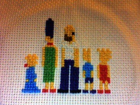 Cross Stitch Simpsons