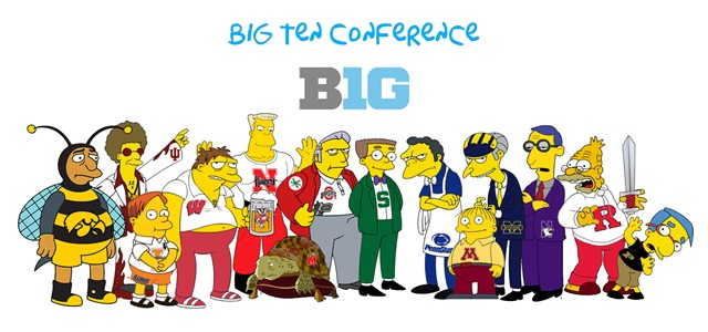 Simpsons Big Ten