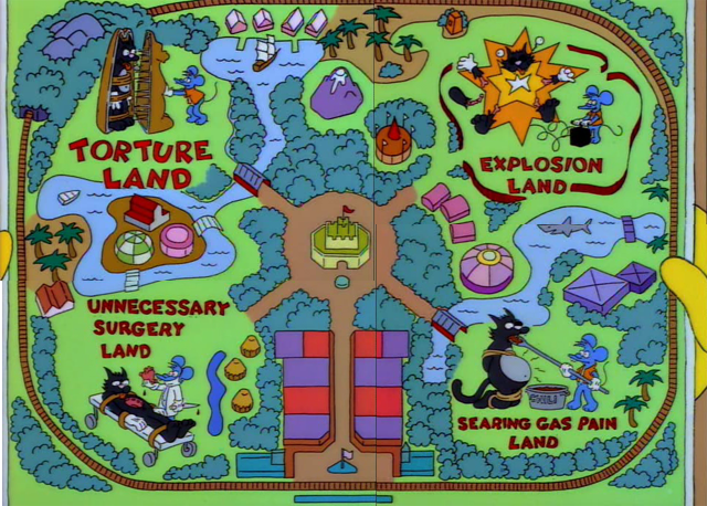Itchy & Scratchy Land Map