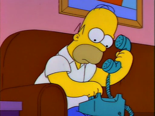 Image result for homer simpson phone