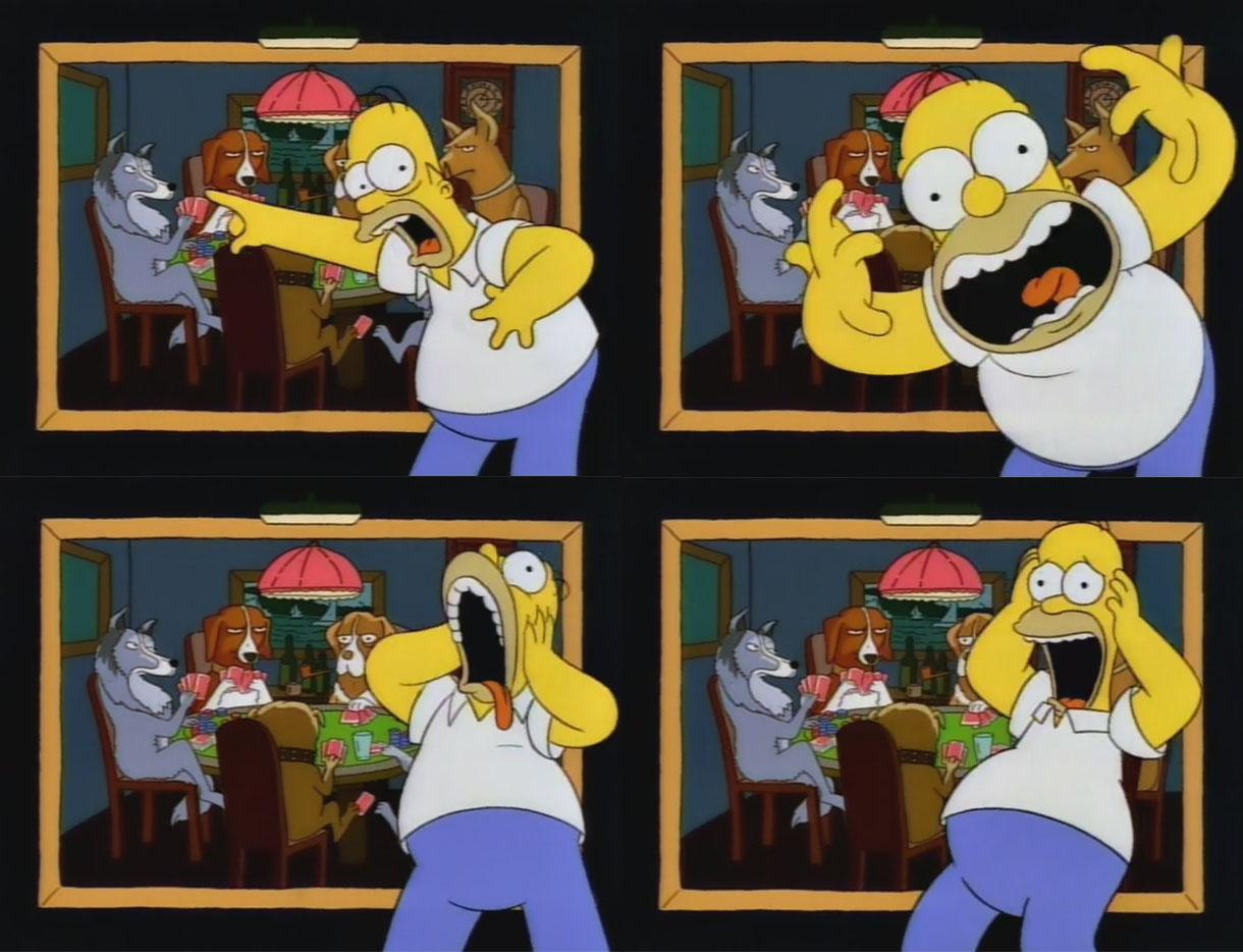 Homer dogs playing poker poker machines in australia statistics