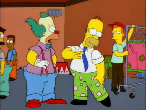 Homie the clown dead homer society - Clown simpson ...
