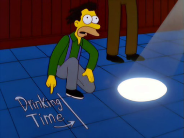 Image result for lenny drinking time