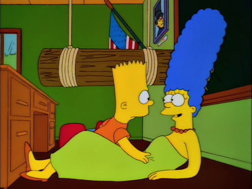 """Kids have been doing that one since my day."""" – Marge Simpson"""