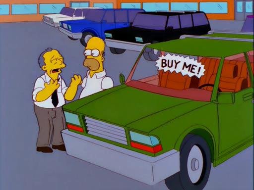 Homer Car: Marge Simpsons In 'Screaming Yellow Honkers'